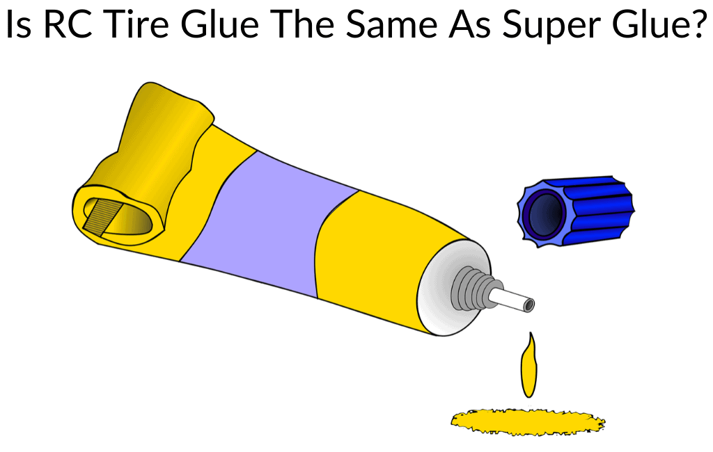 Is RC Tire Glue The Same As Super Glue?
